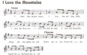 I Love the Mountains song